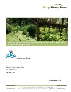 Plan conservation milieux humides Ville de Richelieu 15 nov 2016 page couverture-page-001