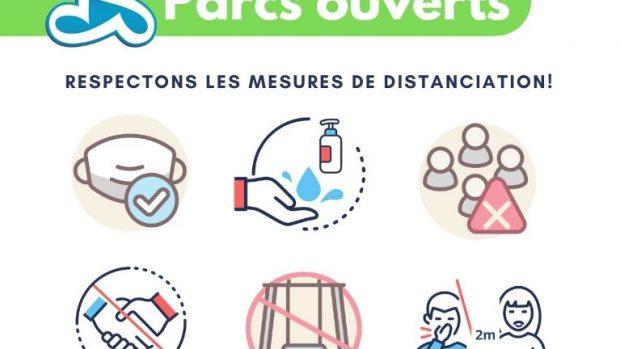 COVID-19: Ouverture partielle des parcs à Richelieu