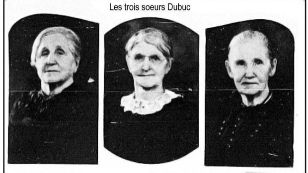 Les trois soeurs Dubuc mariées à trois frères Bessette  de Notre-Dame-de-Bon-Secours