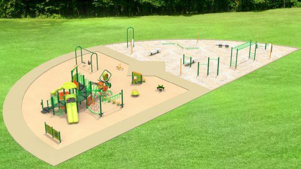 Premières pelletées de terre pour le nouveau parc Alphonsine-Dubuc